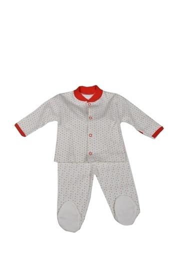 Sema Bebe Puanlı Pijama Bebek Giyim Pembe